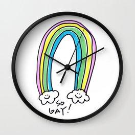 So Gay! So Rainbow! Wall Clock