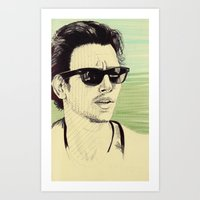 james franco Art Prints featuring James Franco by beecharly