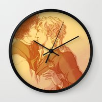grantaire Wall Clocks featuring Rest by Atzagaia