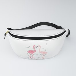 Loving flamingos and flowers Fanny Pack