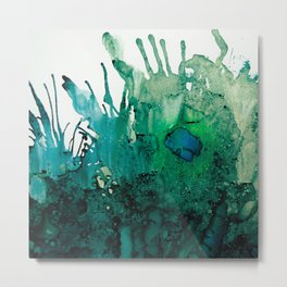 LITTLE BLUE FISH Metal Print