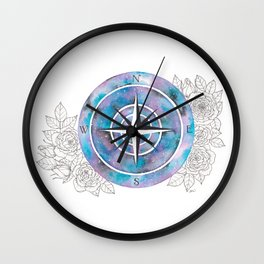 Galaxy Compass Rose Wall Clock