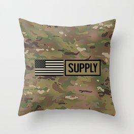 Supply (Camo) Throw Pillow