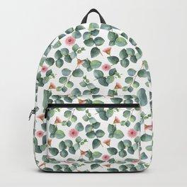 Gorgeous Eucalyptus Flowers Leaves Pattern Backpack