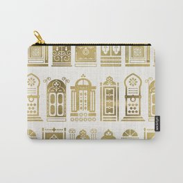 Moroccan Doors – Gold Palette Carry-All Pouch