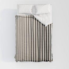 Black Vertical Lines Duvet Cover