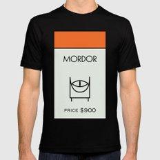 Mordor Monopoly location Mens Fitted Tee MEDIUM Black