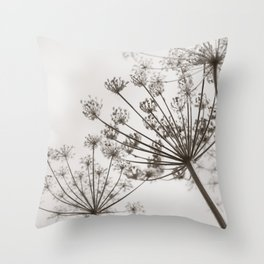 Upward - Wildflower Photography Throw Pillow
