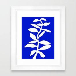 blue stem Framed Art Print