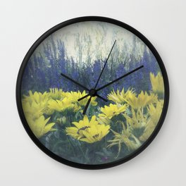 Small Summer Garden Wall Clock