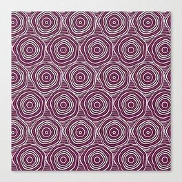 Primal Circle (Fuchsia) Canvas Print