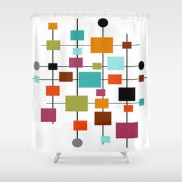 Mid-Century Modern Art 1.3.1 Shower Curtain