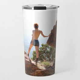 Divine Feminine Stepping into Power Travel Mug