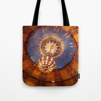theater Tote Bags featuring Theater Ceiling by mofoto
