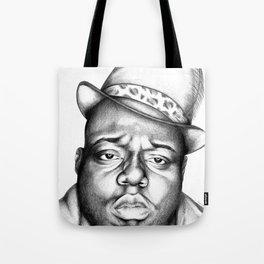Biggie in Black & White Tote Bag