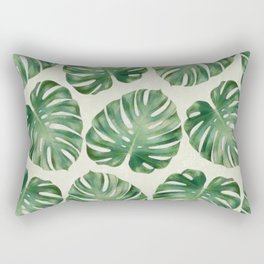 Tropical monstera leaves Rectangular Pillow