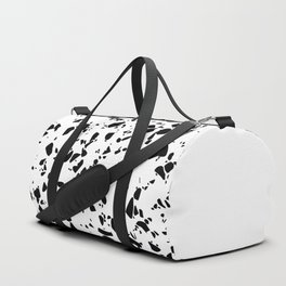 Terrazzo Texture Black and White #8 Duffle Bag