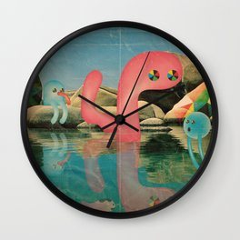 lago animato Wall Clock