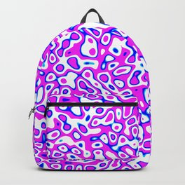 Abstract fractal blue pink marbleized psychedelic plasma Backpack