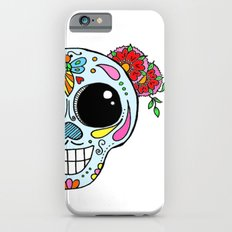 Sugar skull with flowers and bee Slim Case iPhone 6s