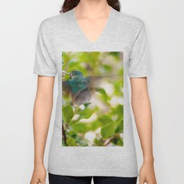 Hummingbird Summer Blur photography by CheyAnne Sexton Unisex V-Neck