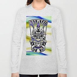 Vicious Tribal Mask Blue 009 Long Sleeve T-shirt