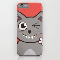 Winking Cartoon Kitty Cat iPhone 6s Slim Case