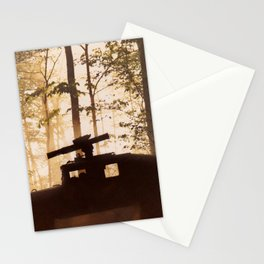 HUMV with Rocket Launcher in the foggy woods Stationery Cards
