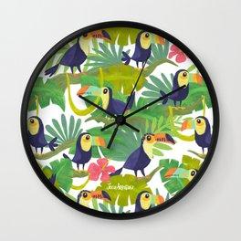 Toucan Paradise Pattern Wall Clock