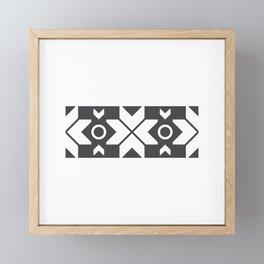 Faroe Islands Pattern Framed Mini Art Print