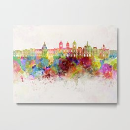 La Paz skyline in watercolor background Metal Print