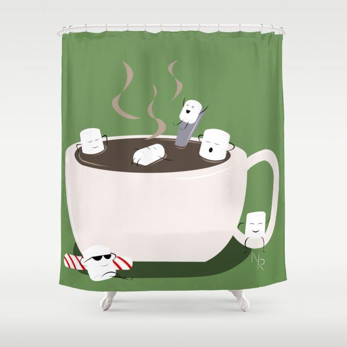Marshmallow Hot Tub Shower Curtain by jaybyrde   Society6
