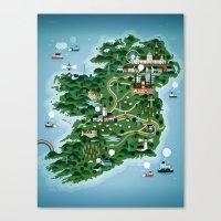 ruben ireland Canvas Prints featuring Ireland by Steebz