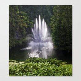 Butchart Garden Fountain Canvas Print