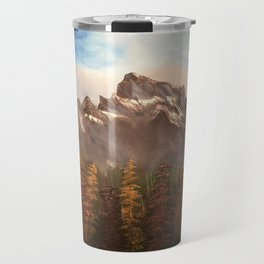 The Three Sisters - Mountain range inspired by Canmore / Banff Alberta, Canada Travel Mug