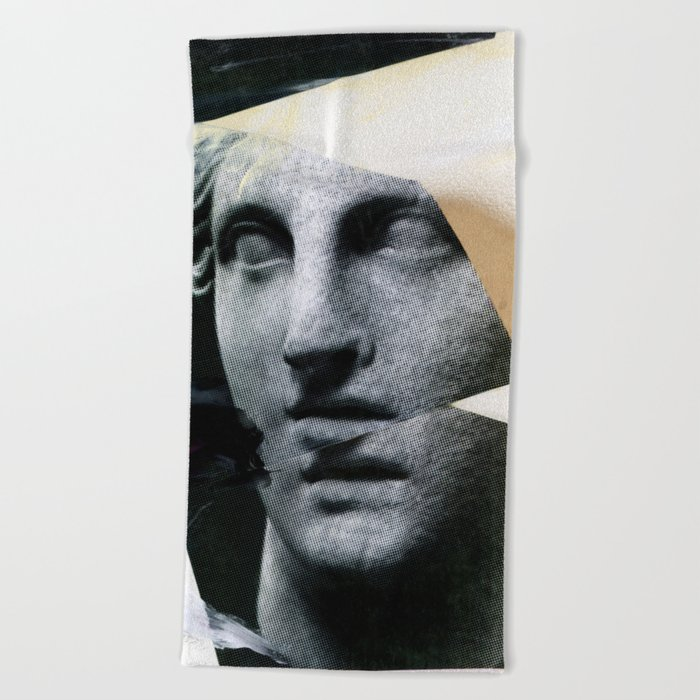 Untitled (Painted Composition 8) Beach Towel