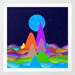 Fanciful Hills -2 Art Print
