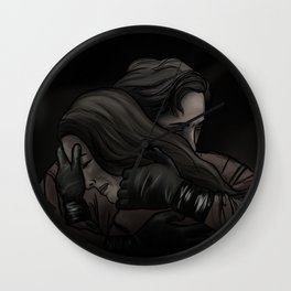 she can't get in // kabby Wall Clock