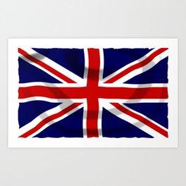 UK Flag Art Print