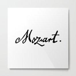 Mozart Metal Print