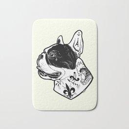 French Bulldog Tattooed Dog Bath Mat