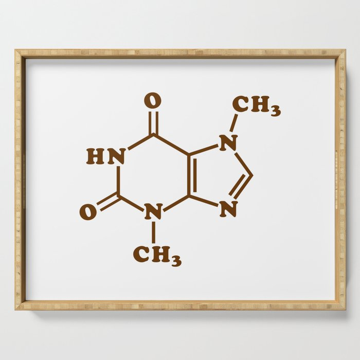 Chocolate Theobromine Molecule Chemical Formula Serving Tray