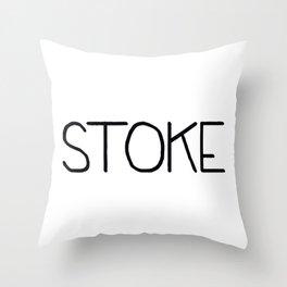 stoke  Throw Pillow