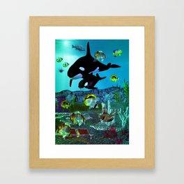 Exploration 3D Aquarium ORCA Framed Art Print