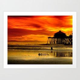Califronia Sunset Art Print