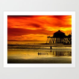 Califronia Sunset Art Print