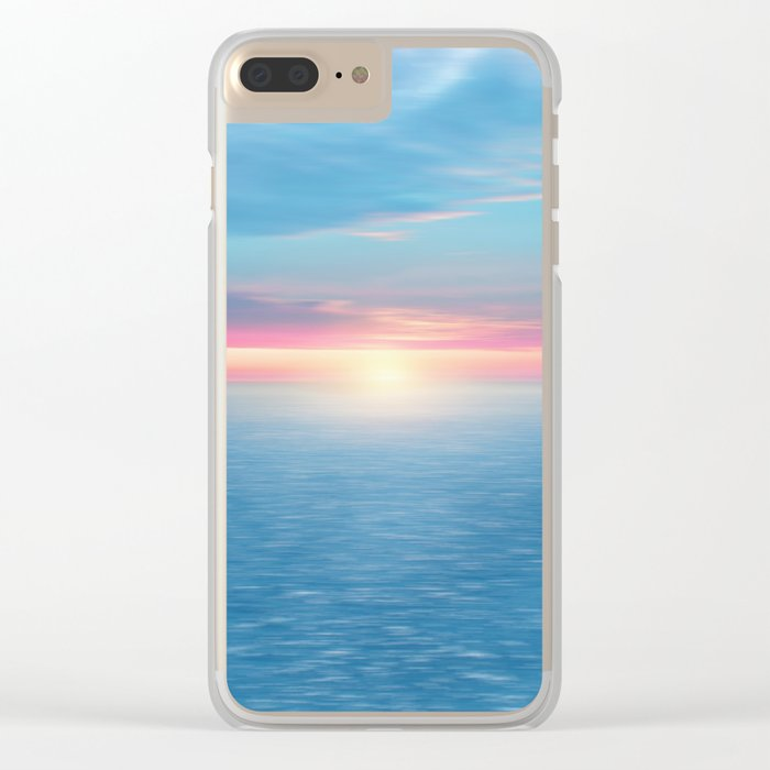 Pastel vibes 46 Clear iPhone Case