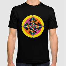 Compass, Palette 1 MEDIUM Black Mens Fitted Tee