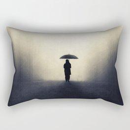 Wandering alone Rectangular Pillow