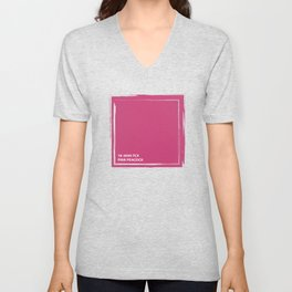 Pink Peacock 18-2045 TCX   Pantone   Color Trends   New York & London   Spring Summer 2019   Solid Unisex V-Neck